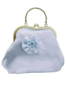 Kabelky - Kabelka pre nevestu, modrá svadobná kabelka 0055 - 5408658_