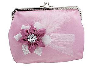 Kabelky - Svadobná růžová kabelka , kabelka pre nevestu 14141A - 5408848_