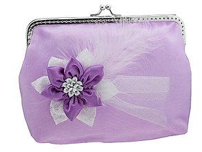 Kabelky - Svadobná fialová kabelka , kabelka pre nevestu 14141A - 5408879_