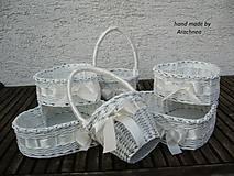 Svadobné košíčky - väčšie sady (ivory)