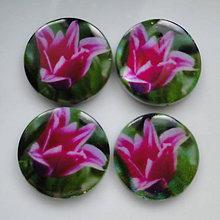 Korálky - Perleť.placka 25mm-tulipány-1ks (č.4) - 5408895_
