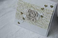 - Svadobná pohľadnica - man and wife - 5407999_