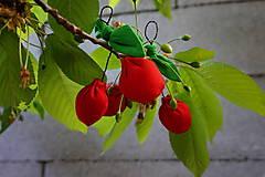 Dekorácie - čerešničky,čerešničky červené 2 - 5408444_