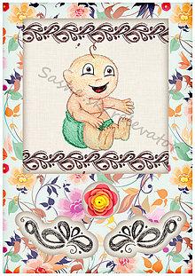 Papiernictvo - Kvetinové blahoželanie k narodeniu dieťatka 7 - 5408395_