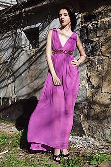 Šaty - Mušelínové šaty Lila - 5412691_