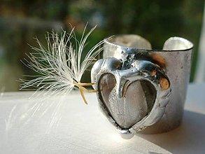 Prstene - Biele srdiečko-prsteň- tiffany - 5411149_
