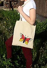 Nákupné tašky - Motýlia taška - 5412915_
