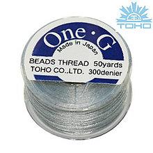Galantéria - Toho thread One-G gray - 5409985_