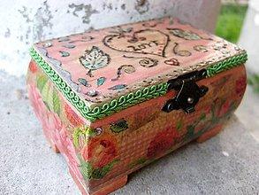 Krabičky - Ruženkina šperkovnička  - akcia - 5411871_