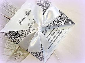 """Papiernictvo - Svadobné oznámenie """"Black Lace"""" - 5410530_"""