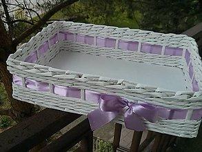 Košíky - s fialkovou stuhou.. - 5411638_
