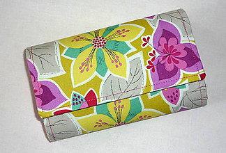 Peňaženky - Peňaženka - Farebné kvety. - 5410173_
