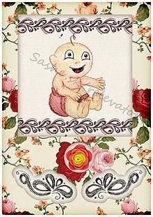 Papiernictvo - Kvetinové blahoželanie k narodeniu dieťatka 8 - 5409883_