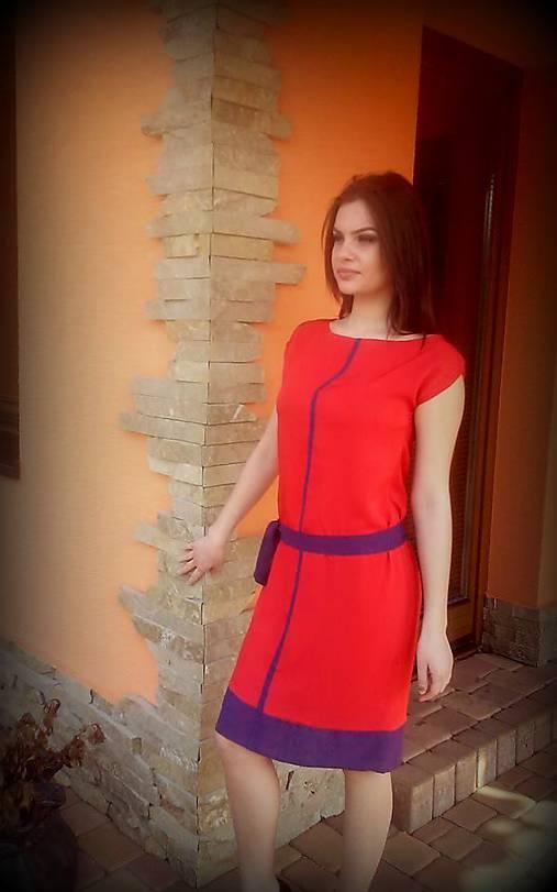 e79a501e7106 Oranžová s fialovou-20 EUR   gk - SAShE.sk - Handmade Šaty