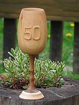 Nádoby - drevený pohár na víno k výročiu - 5416619_