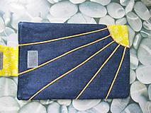 Úžitkový textil - Obal na tablet- jarné slniečko - 5415923_