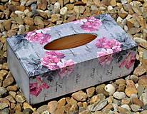 Krabičky - Ružičky v sivom - 5414232_