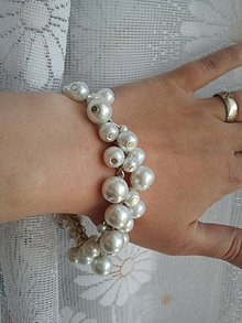 Náramky - Biely perličkový náramok - 5414273_