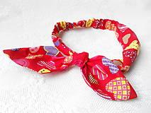 Ozdoby do vlasov - Pin Up headband on elastic (funny hearts) - 5419861_