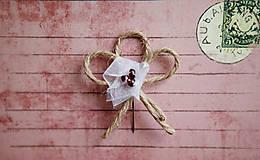 Pierka - Svadobné pierka - špagát - kvet - 5418294_