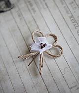 Pierka - Svadobné pierka - špagát - kvet - 5418295_