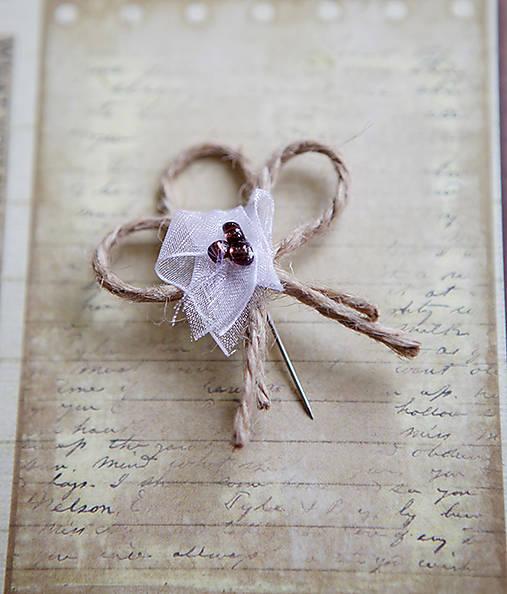 Svadobné pierka - špagát - kvet