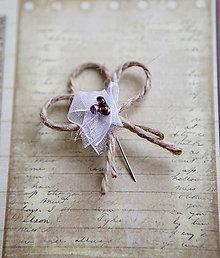 Pierka - Svadobné pierka - špagát - kvet - 5418296_
