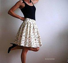 Sukne - Nadýchaná suknička s kvietkami alla France - 5419016_