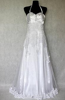 Šaty - Svadobné šaty z korálkovej krajky veľ. 40 - 42 - 5418841  321992c9c35