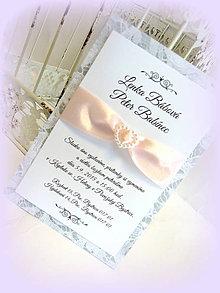 """Papiernictvo - Svadobné oznámenie """"Sweet Lace"""" - 5417045_"""