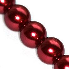 Korálky - Sklenené perličky Maroon 12mm /2ks - 5421263_