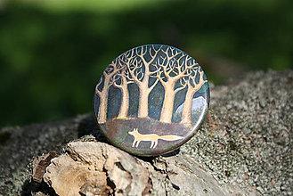 Magnetky - Magnet Liška pod stromy - 5421282_