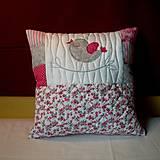 Úžitkový textil - vankúš vtáčik speváčik - 5420907_