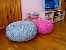 Úžitkový textil - Ružový puf - 5423887_