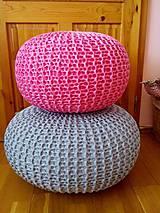 Úžitkový textil - Ružový puf - 5423889_