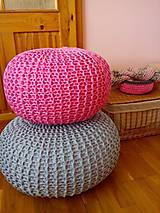 Úžitkový textil - Ružový puf - 5423890_