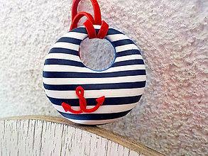 Náhrdelníky - DONUT pre námorníčku  (s kotvičkou) - 5422689_