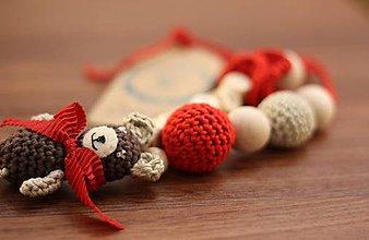 Detské doplnky - Kojací náhrdelík Macko - 5424697_