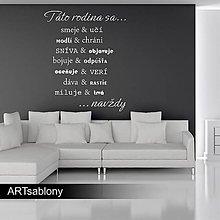 Dekorácie - (3664n) Nálepka na stenu - Táto rodina... - 5426094_