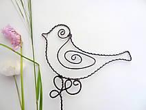 Dekorácie - vtáčik...vrabček domový - 5426240_