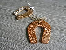 Darčeky pre svadobčanov - podkova s kovovým nádychom - 5425926_