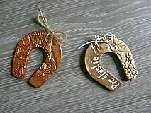 Darčeky pre svadobčanov - podkova s kovovým nádychom - 5425928_