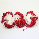 Galantéria - Piestiky červené - 20 kusov - 5427143_