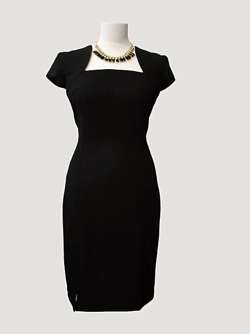 b7cf99f7245b Malé čierne žoržetové   elkab - SAShE.sk - Handmade Šaty