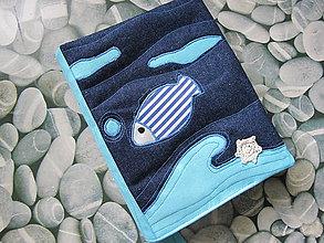 Papiernictvo - Obal na knihu- vôňa mora - 5426409_