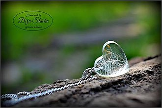 Náhrdelníky - Náhrdelník V srdci púpavy (1753 A) - 5424902_