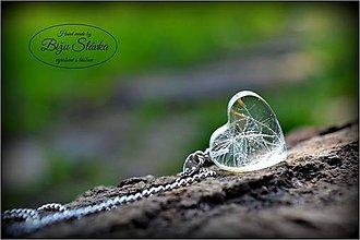 Náhrdelníky - Náhrdelník V srdci púpavy (1753 A) CHO - 5424902_