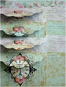 Papiernictvo - Carte postale mix obálka/karta sada - 5425804_