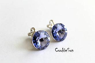 Náušnice - Klipsne Swarovski Rivoli Provence Lavender Rh - 5424852_
