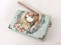 Mirabelle I.-peněženka vyšívaná rokajlem s poutkem